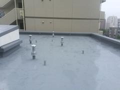ウレタン塗膜防水、機械固定工法